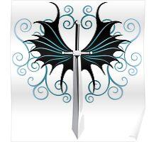 Sword Art Dragon Wings design Poster