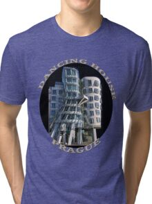 *•.¸♥♥¸.•*The Dancing House Prague TEE SHIRT WITH TEXT*•.¸♥♥¸.•* Tri-blend T-Shirt