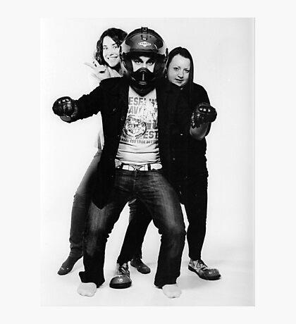 Imaginary biker and his chicks Photographic Print