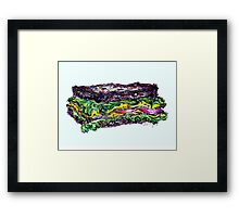 The best sandwich I ate last night Framed Print