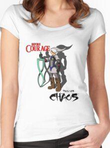 fierce deity link Women's Fitted Scoop T-Shirt