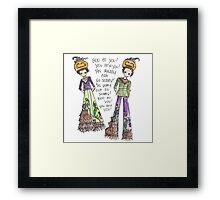 Boo To You! Framed Print