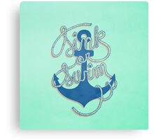 Sink or Swim Canvas Print