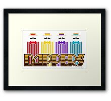 Dappers with lettering Framed Print