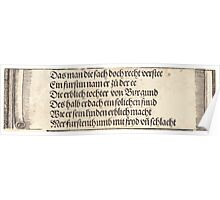 Albrecht Dürer or Durer Printed text for The Betrothal of Maximilian with Mary of Burgundy Poster