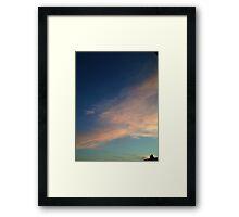 Watercolor Sky: SoCal Sunset in Long Beach Framed Print