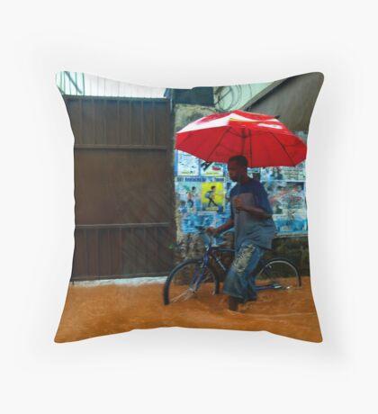 Rain in Freetown III Throw Pillow