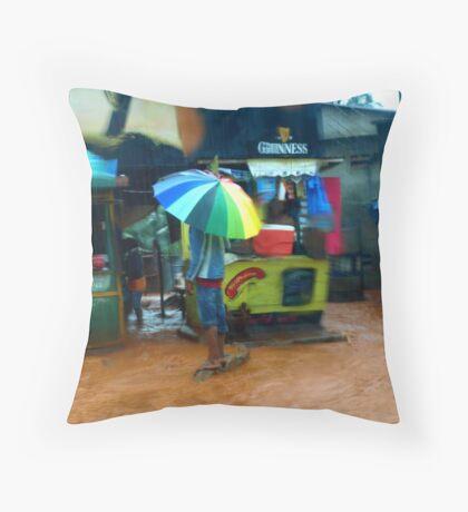 Rain in Freetown IV Throw Pillow