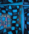 Twisted Checkers in Blue by Sarah Curtiss
