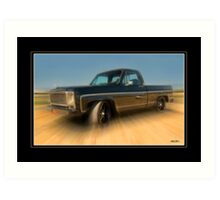 1979 Chevy Silverado - 454 Cubic Inches of Giddy Up! Art Print
