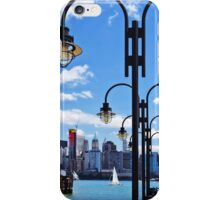 Manhattan, NY - Skyline From Liberty State Park iPhone Case/Skin