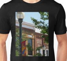 Downtown Lamppost and Building Unisex T-Shirt