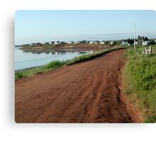Red Clay Road Canvas Print
