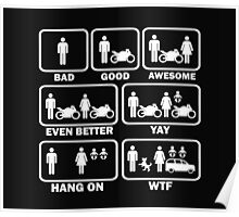 Funny motorcycle joke shirt Poster