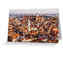 Hot, Hazy and Wonderful - the Red Roofs of Venice, Italy Greeting Card