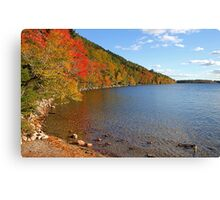 'Fall Color at Jordan Pond' Canvas Print