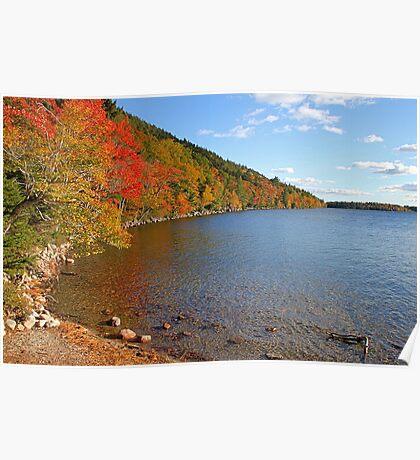 'Fall Color at Jordan Pond' Poster