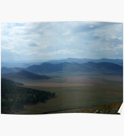 Mongolian Plains Poster