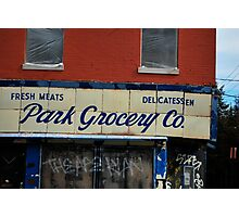 Park grocery  Photographic Print