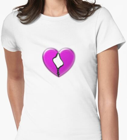zip your heart Womens Fitted T-Shirt