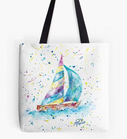 Sailboat by Jan Marvin Tote Bag