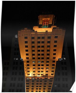 Skyscraper at night by Barry Doherty