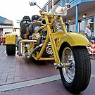 Yellow Custom Trike by Mark J Kopczewski