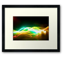 slow lights Framed Print