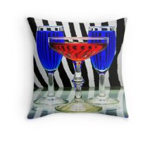Electric Cocktails Throw Pillow