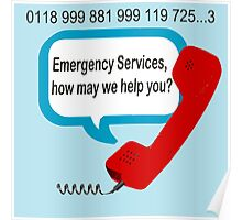 0118 999 881 999 119 7253 IT Crowd Emergency Services Poster
