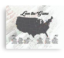 Love The Game Canvas Print