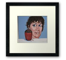 He Sees You When You're Eating Framed Print