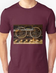 Black Train Wheels Unisex T-Shirt
