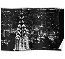 The Chrysler Building at night Poster