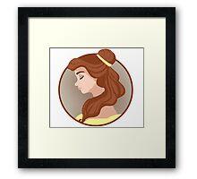 Belle Cameo Framed Print