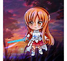 Asuna Sword Art Online (SAO) Chibi Background Photographic Print