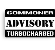 Commoner advisory-Turbocharger Canvas Print