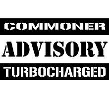Commoner advisory-Turbocharger Photographic Print