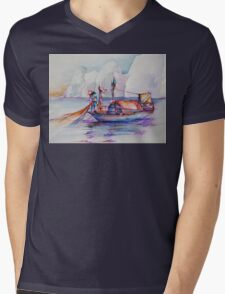 dayjob-boatman Mens V-Neck T-Shirt
