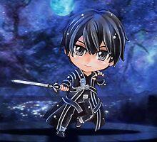 Kirito Sword Art Online (SAO) Chibi Background by Dacdacgirl