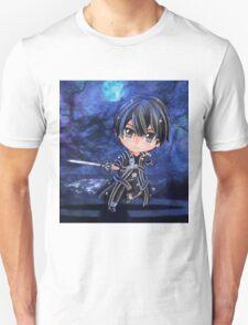 Kirito Sword Art Online (SAO) Chibi Background T-Shirt
