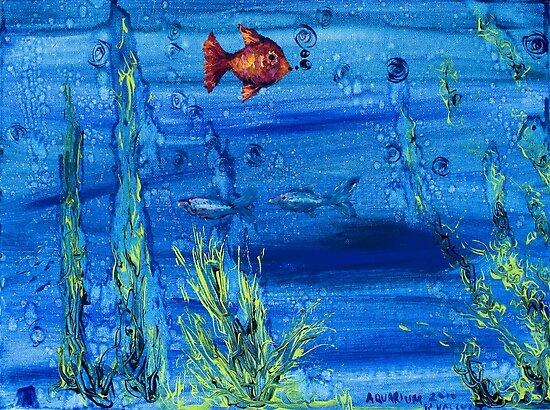 Red fish blue fish by Regina Valluzzi