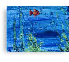 Red fish blue fish Canvas Print
