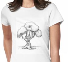 Escaping The World Womens Fitted T-Shirt