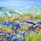 Mountains and Marsh by Regina Valluzzi