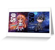 Kirito & Asuna Sword Art Online (SAO) Chibis Greeting Card