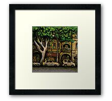 The Yellow House, Potts Point Framed Print