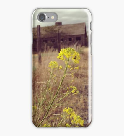 Gray Skies Over a Weathered Barn  iPhone Case/Skin