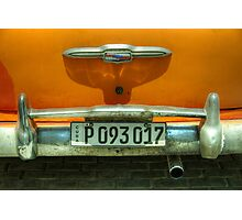 Chevy Plate  Photographic Print