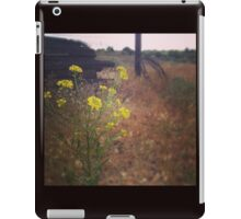 Close up of Yellow Wildflowers  iPad Case/Skin